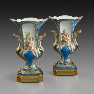 "Pair of Vases Duplessis ""à Enfants"""