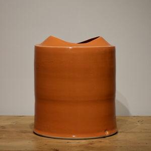 Medium Tall Orange Vessel