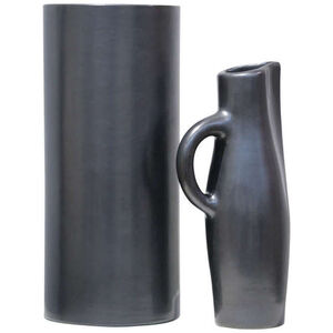 """Vase Cylindre"", ""Pichet"" & ""Coupe Noirs"""