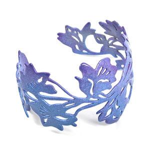 Delphinium Cuff Bracelet