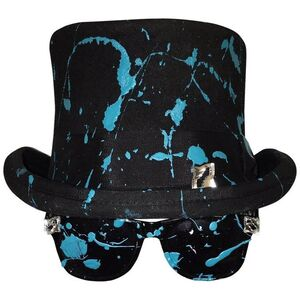 Stacy Engman Art Royalty- Classic Signature Sunglasses-Tiara - w Splat Top Hat