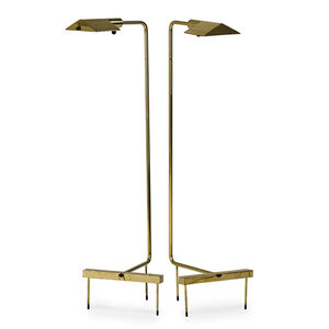 Pair of adjustable floor lamps, Switzerland