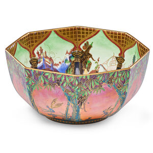 Fairyland Lustre octagonal bowl (pattern 5360), England