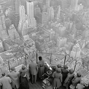 The Empire State Building observation deck on the 86th floor. New York City, USA.