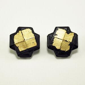 """""""Girandola"""" Earrings, Gold Leaf 2"""
