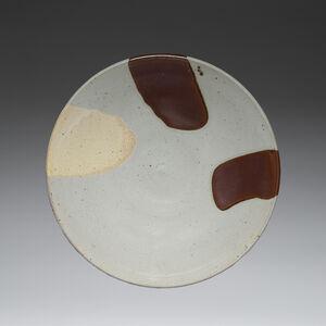 Platter, Grey Yellow and Iron