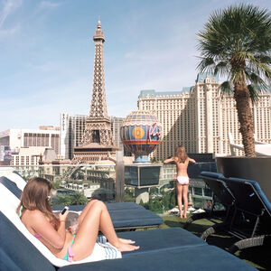 French Girls with Eiffel Tower, Las Vegas, Nevada