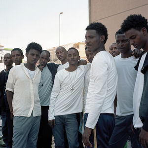 Eritrean Christian men, Catania, Sicily, Italy, June 2015, from the series 'Foreigner'