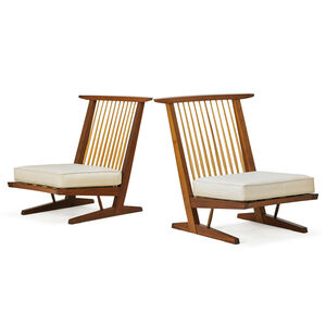 Two Conoid Lounge Chairs, New Hope, PA