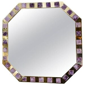 Stuning one of a kind Amethyst mirror designed by Regis ROYANT