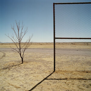 Backstop. Marfa, Texas