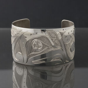 Silver Devilfish Cuff Bracelet
