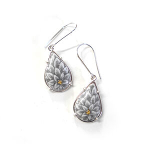 Chrysanthemum Dangle Earrings