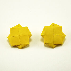 """""""Girandola"""" Earrings, Yellow"""
