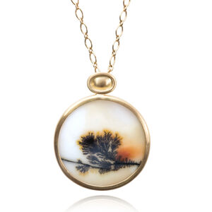 Dendrite Agate Sunset Necklace