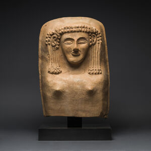 Phoenician Anthropomorphic Coffin Lid