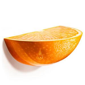 Orange Crush fiberglass wall console