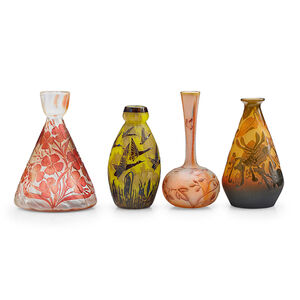 Four Vases with Flowers and Birds, France