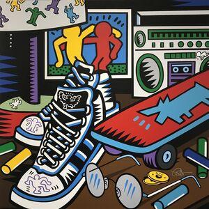 Keith Haring Nightstand