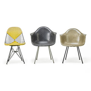 Molded Plastic Four-Leg Armchair (Dax), Wire Chair (Dkr), And Molded Plastic Wire-Base Armchair (Dar), Zeeland, MI