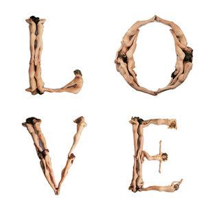 Letters L O V E of Alphabet Body Type