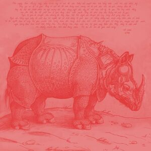 Durer Rhino Embroidery - 05 red