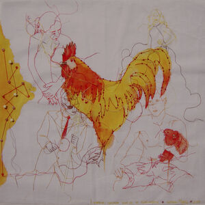 Leonor raised roosters and chickens