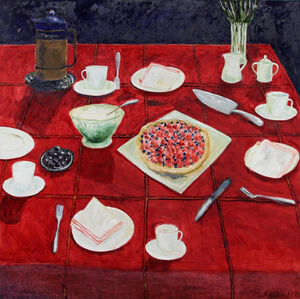 Still Life with Red Tablecloth