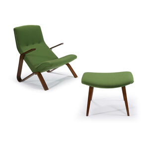 Grasshopper Chair And Ottoman, Knoll Associates, USA