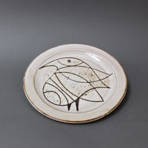 Ceramic Plate with Stylised Bird