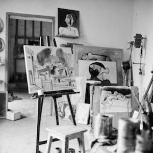 View of Picasso's studio at Vallauris