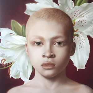 Boy and Lillies