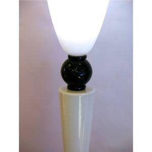 Alberto Dona Monumental Art Deco Black and White Murano Glass Table Floor Lamps