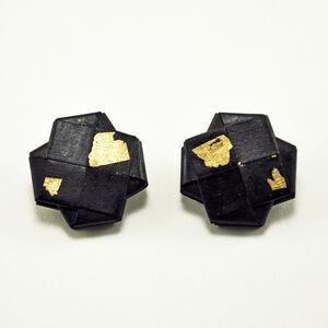 """""""Girandola"""" Earrings Gold Leaf 3"""