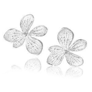 Sterling Silver Single Hydrangea Earrings