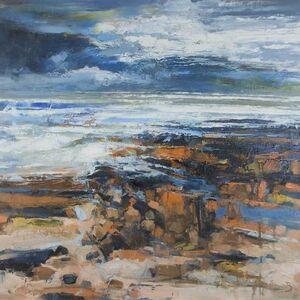 Stormy Shore Bamburgh Beach