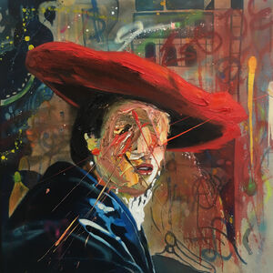 After Vermeer Girl in a Red Hat