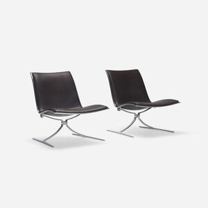 Skater chairs, pair