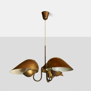 Chandelier in Brass by Carl Axel Acking