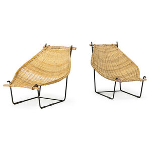 Pair of lounge chairs, USA