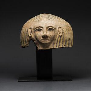 Egypto-Philistine Terracotta Anthropomorphic Coffin Lid