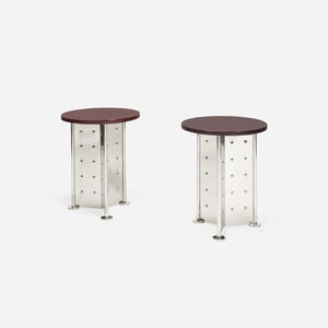 Occasional tables for the Royalton Hotel, pair