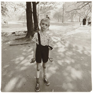 Child with a toy hand grenade in Central Park, N.Y.C.