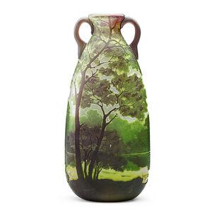 Two-Handled Scenic Vase, France