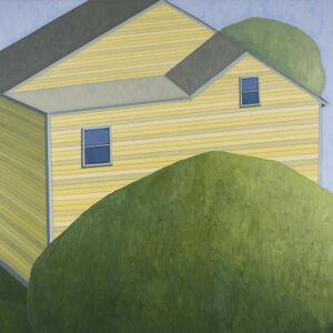 Green Trees Yellow Barn