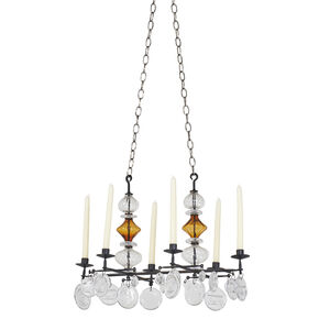 Six-arm hanging candelabrum
