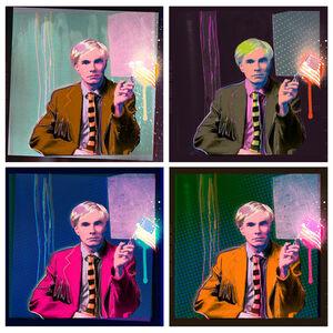 """""""Quad Andy Drip"""" Andy Warhol Portrait"""
