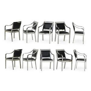 Set of ten Regency dining armchairs, New York