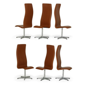 Set of six tall-back Oxford chairs, Denmark