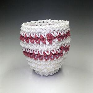 White & Red Athletic Sock Stripes